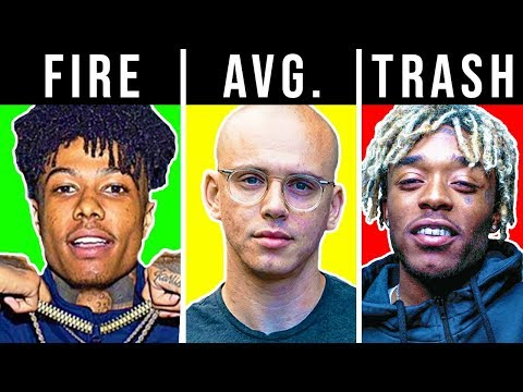 RANKING RAPPERS TRASH TO FIRE (BLUEFACE, 6IX9INE, LIL PUMP)