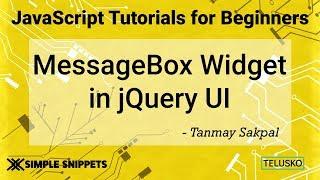 Message Box Widget in JQuery UI