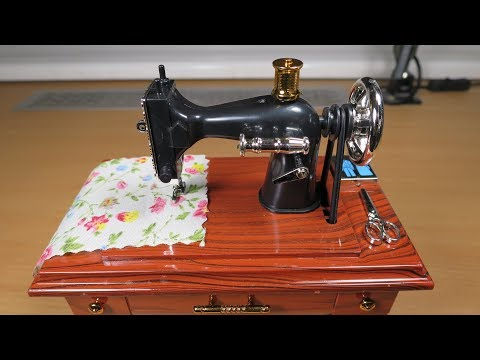 Incredible Treadle Sewing Machine Music Box