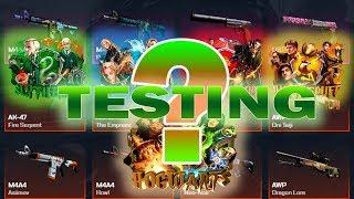 CSGO.NET CASE OPENING ჰარის ქეისების TEST -  Fire Serpent?