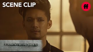 Shadowhunters | Season 2, Episode 18: Alec Spends The Night With Magnus | Freeform