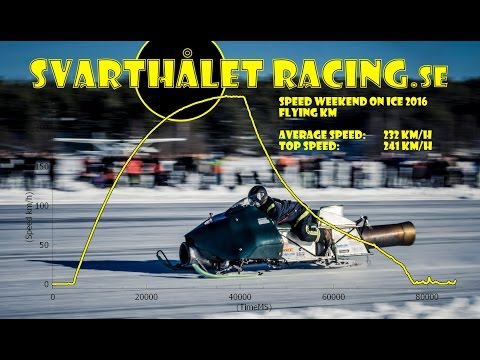 Racing a Snowmobile with a Jet Engine