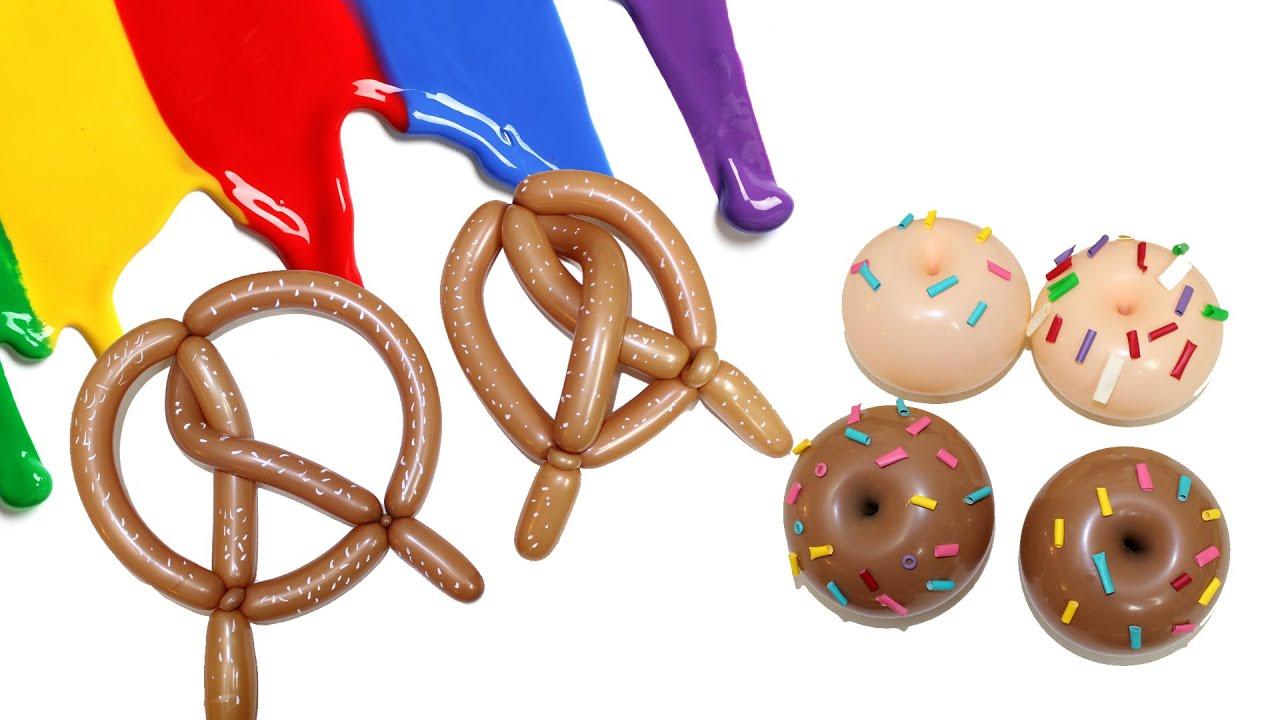 Candy Bar Donas y Pretzel. Curso de Globos