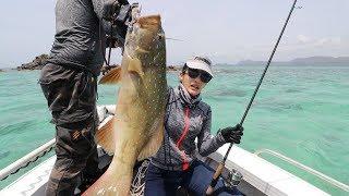 ล่าปลาเก๋ากุดสลาดโลละ 1000 บาท เอามาทำ ซาซิมิ สดๆกันกลางทะเล by fishingEZ