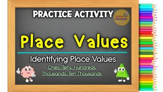 PLACE VALUES  (Ones, Tens, Hundreds, Thousands, Ten Thousands)