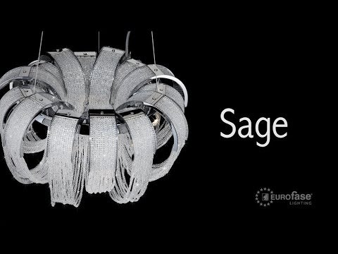 Video for Sage Chrome Five-Light 25-Inch Wide Chandelier with Clear Crystal