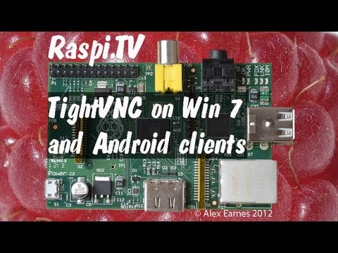 Install and use TightVNC remote desktop on raspberry pi