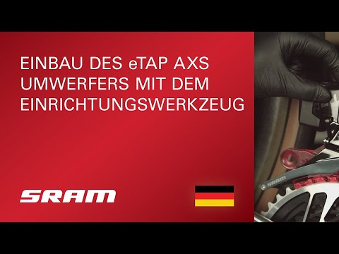 Einbau des eTAP AXS Umwerfers mit dem Einrichtungswerkzeug