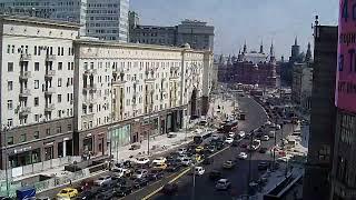 Смотреть онлайн Ускоренная съемка реконструкции улицы Тверской в Москве