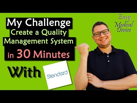 Create a Quality Management System in 30 minutes with Stendard