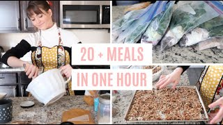 HEALTHY FREEZER BREAKFAST MEAL PREP 2020 // Only ONE Hour!