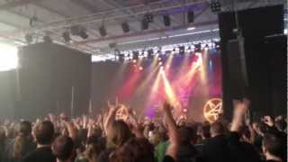 ANTHRAX Worship (Intro) + Earth on hell, Metallurgicales, Denain (FR), 09 juin 2012