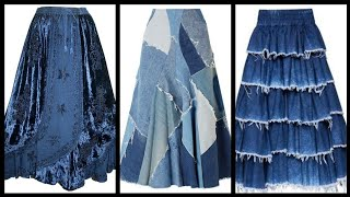 New And Stylish Daily Wear Denim Skirts Ideas