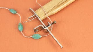 Artbeads Tutorial - How To Use The Beadalon Tin Cup Pearl Knotter With Wyatt White