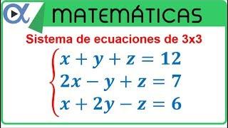 Sistema de ecuaciones de 3x3