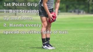 How to Correctly Kick an AFL Ball