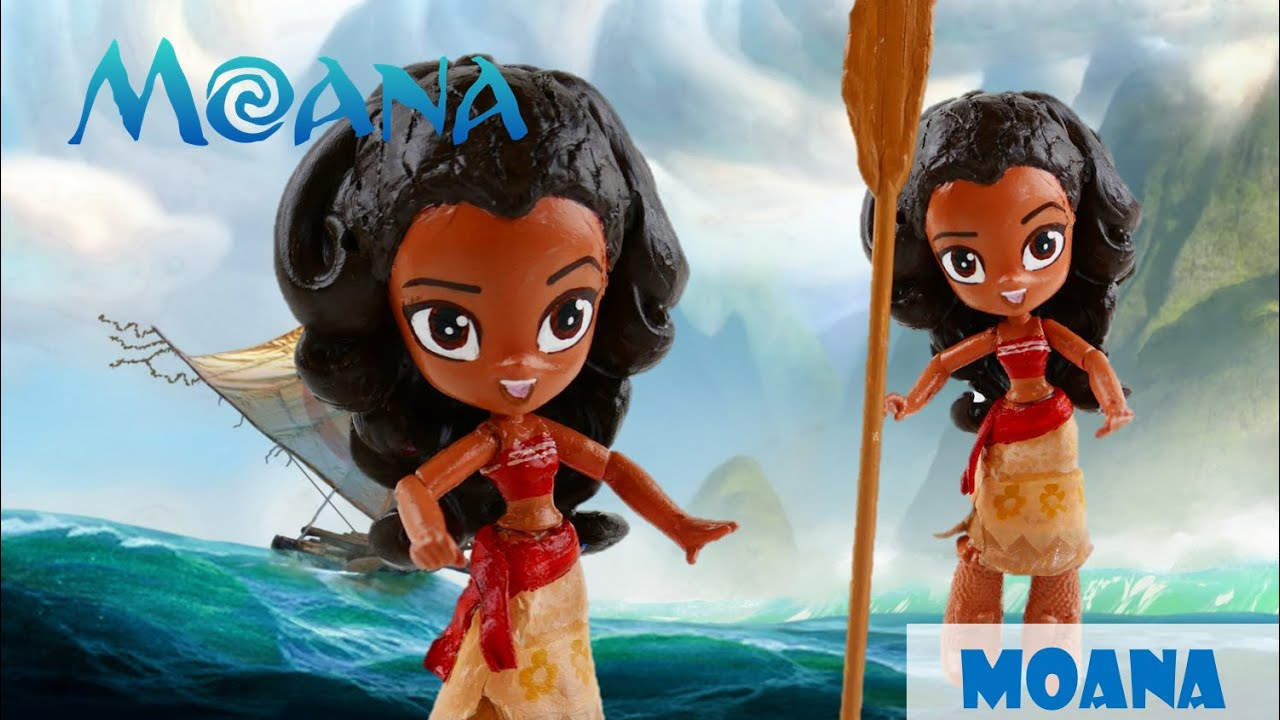 DISNEY MOANA Doll Custom - How to make Moana Movie toys with My Little Pony Equestria Girls