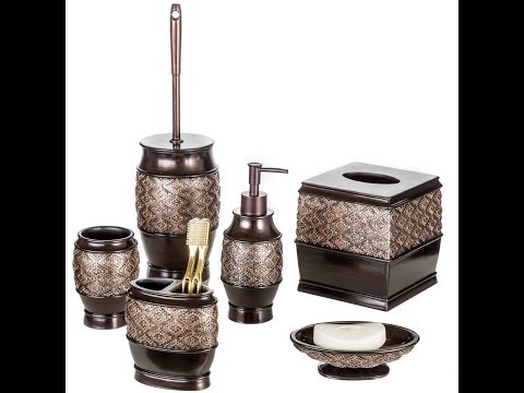 Creative Scents Dublin 4 Piece Bathroom Accessories Set