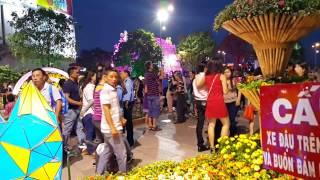 Sài Gòn, Bitexco Tower, đướng Hoa Nguyễn Huệ,đón Giao Thừa Tết Đinh Dậu