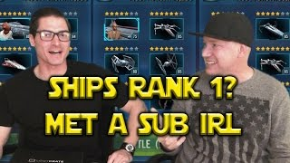 Star Wars: Galaxy Of Heroes - Met A Sub IRL - Attempt At Ships Rank 1