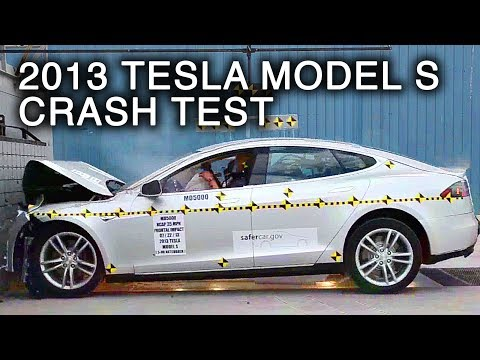 Tesla Model S prueba de choque frontal