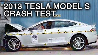 2013 Tesla Model S | Frontal Crash Test by NHTSA
