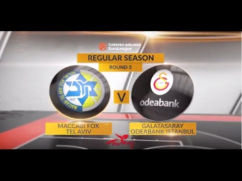 EuroLeague Highlights RS Round 3: Maccabi FOX Tel Aviv 98-92 Galatasaray