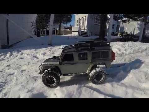 Snow Time Traxxas TRX4 New Tire Test