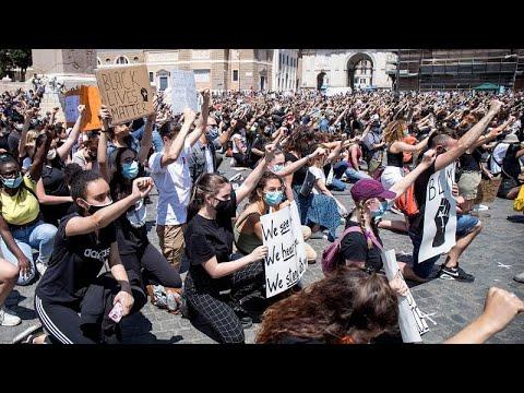 """Χιλιάδες άνθρωποι στην Ευρώπη φώναξαν """"Black Lives Matter"""""""