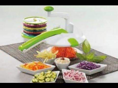 Como Cortar Verduras Rápido y Fácil - Cortador de Vegetales Manual. 9 Usos en un solo Utensilio