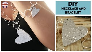 DIY heart necklace and bracelet with Sizzix