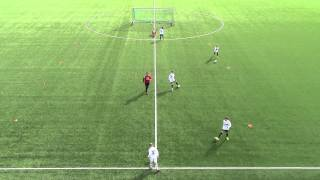 1v1 med mål (6 - 12 år)