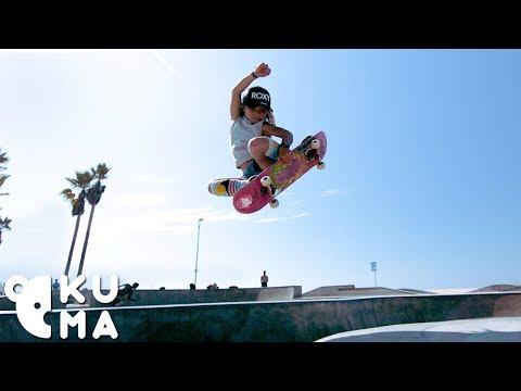 Awesome Kids - 9 Year Old Pro Skateboarder Destroys the Venice Skatepark 🤯
