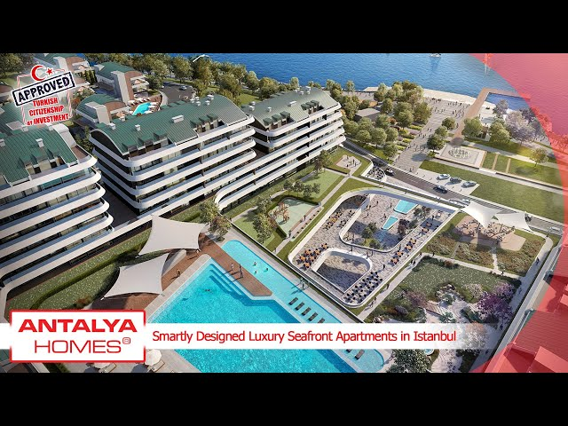 Seafront Apartments in a Luxurious Residential Complex in Istanbul