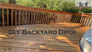 95 - How To Build A Backyard Deck - Around An Above Ground Pool DIY Home Improvement