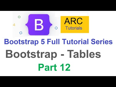 Bootstrap 5 Tutorial For Beginners #12 - Bootstrap Tables Tutorial