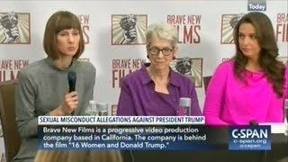 Women Accussing Donald Trump Sexual Misconduct Answer Questions With Filmmaker At Their Side