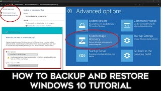 How To Create a System Image Backup and Restore | Windows 10 Recovery Tutorial