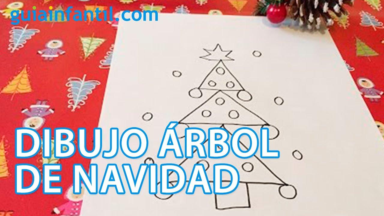Cómo dibujar un árbol de Navidad con los niños - Manualidad para niños