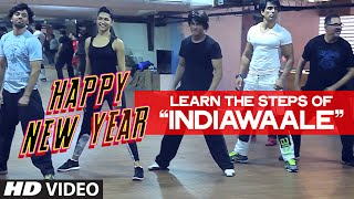 'India Waale' Dance Steps with Sharukh Khan - Happy New Year