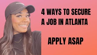 How To Secure a Job in Atlanta Before Moving