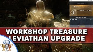 God Of War - How To Upgrade Leviathan Axe To Level 6 AND Darkness And Fog Workshop Treasure