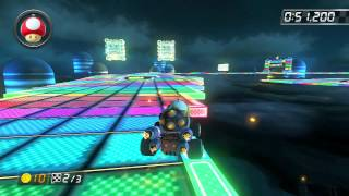 SNES Rainbow Road - 1:25.856 - HD (Mario Kart 8 World Record)