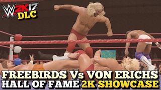WWE 2K17 Hall Of Fame DLC: Freebirds vs Von Erichs Full Showcase (All Objectives Completed!)