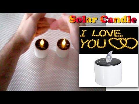Solar Powered LED Candle - Κερί επαναφορτιζόμενο με ηλιακή ενέργεια