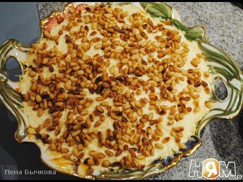 Слоеный салат с шампиньонами и курицей  Пошаговый рецепт с фото