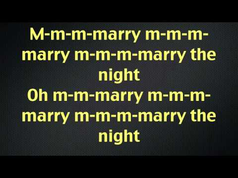 Marry The Night Lady GaGa Lyrics
