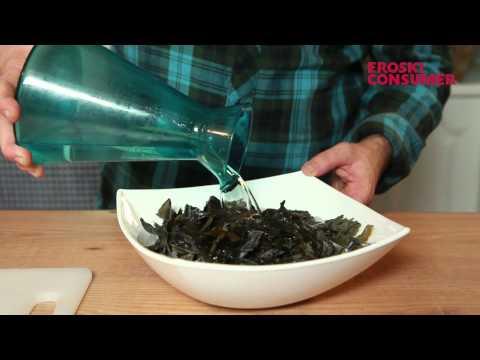 Receta de arroz con algas y setas