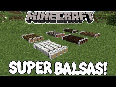 Minecraft 1.12 MOD SUPER BALSAS! Just A Raft Mod Español!