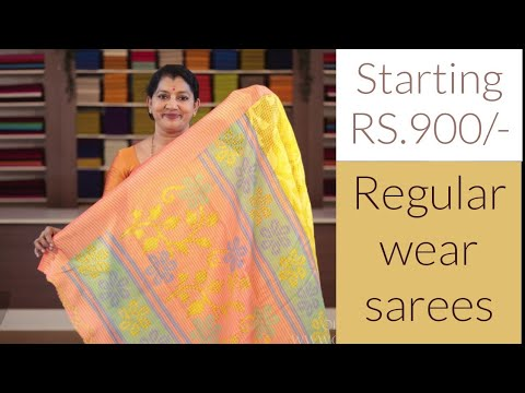 "<p style=""color: red"">Video : </p>NEW REGULAR WEAR SAREES COLLECTIONS 